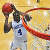 Hamilton College guard Nick Osarenren (4)<br /> <br /> 12/8/18 4:55:38 PM Men's Basketball: Elmira College v #4 Hamilton College at Margaret Bundy Scott Field House, Hamilton College, Clinton, NY<br /> <br /> Final: Elmira 67  #4 Hamilton 98<br /> <br /> Photo by Josh McKee