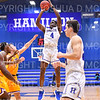 Hamilton College guard Nick Osarenren (4)<br /> <br /> 12/8/18 4:36:12 PM Men's Basketball: Elmira College v #4 Hamilton College at Margaret Bundy Scott Field House, Hamilton College, Clinton, NY<br /> <br /> Final: Elmira 67  #4 Hamilton 98<br /> <br /> Photo by Josh McKee