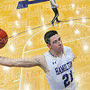 Hamilton College G/F Spencer Kendall (21)<br /> <br /> 12/8/18 4:54:55 PM Men's Basketball: Elmira College v #4 Hamilton College at Margaret Bundy Scott Field House, Hamilton College, Clinton, NY<br /> <br /> Final: Elmira 67  #4 Hamilton 98<br /> <br /> Photo by Josh McKee