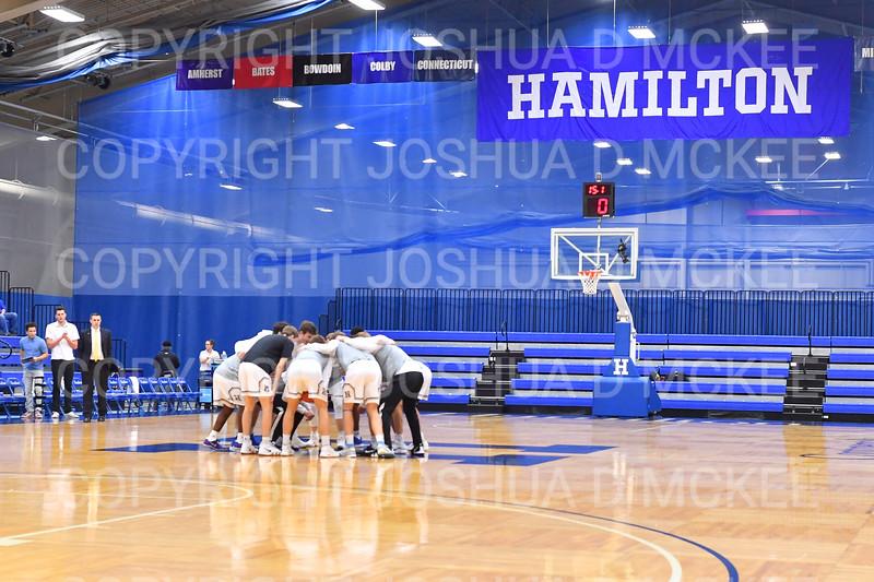Team<br /> <br /> 12/8/18 3:58:50 PM Men's Basketball: Elmira College v #4 Hamilton College at Margaret Bundy Scott Field House, Hamilton College, Clinton, NY<br /> <br /> Final: Elmira 67  #4 Hamilton 98<br /> <br /> Photo by Josh McKee