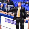 Hamilton College head coach Adam Stockwell<br /> <br /> 1/6/19 3:09:54 PM Men's Basketball:  Trinity College v Hamilton College at Margaret Bundy Scott Field House, Hamilton College, Clinton, NY<br /> <br /> Final: Trinity 70   Hamilton 72<br /> <br /> Photo by Josh McKee