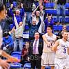 Celebration, Crowd<br /> <br /> 1/6/19 3:51:39 PM Men's Basketball:  Trinity College v Hamilton College at Margaret Bundy Scott Field House, Hamilton College, Clinton, NY<br /> <br /> Final: Trinity 70   Hamilton 72<br /> <br /> Photo by Josh McKee