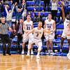 Celebration<br /> <br /> 1/6/19 3:51:38 PM Men's Basketball:  Trinity College v Hamilton College at Margaret Bundy Scott Field House, Hamilton College, Clinton, NY<br /> <br /> Final: Trinity 70   Hamilton 72<br /> <br /> Photo by Josh McKee