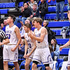 Celebration<br /> <br /> 1/6/19 3:23:23 PM Men's Basketball:  Trinity College v Hamilton College at Margaret Bundy Scott Field House, Hamilton College, Clinton, NY<br /> <br /> Final: Trinity 70   Hamilton 72<br /> <br /> Photo by Josh McKee