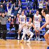 Celebraton<br /> <br /> 1/6/19 3:51:38 PM Men's Basketball:  Trinity College v Hamilton College at Margaret Bundy Scott Field House, Hamilton College, Clinton, NY<br /> <br /> Final: Trinity 70   Hamilton 72<br /> <br /> Photo by Josh McKee