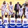 Team, Hamilton College head coach Adam Stockwell<br /> <br /> 1/6/19 3:48:27 PM Men's Basketball:  Trinity College v Hamilton College at Margaret Bundy Scott Field House, Hamilton College, Clinton, NY<br /> <br /> Final: Trinity 70   Hamilton 72<br /> <br /> Photo by Josh McKee