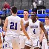 Celebration<br /> <br /> 1/6/19 3:42:01 PM Men's Basketball:  Trinity College v Hamilton College at Margaret Bundy Scott Field House, Hamilton College, Clinton, NY<br /> <br /> Final: Trinity 70   Hamilton 72<br /> <br /> Photo by Josh McKee