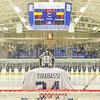 Hamilton College goaltender Anthony Tirabassi (34)<br /> <br /> 11/16/18 6:58:21 PM Men's Hockey:  Amherst College v Hamilton College at Russell Sage Rink, Hamilton College, Clinton, NY<br /> <br /> Final:  Amherst  2  Hamilton 3<br /> <br /> Photo by Josh McKee