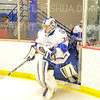 Hamilton College goaltender Anthony Tirabassi (34)<br /> <br /> 11/16/18 7:48:45 PM Men's Hockey:  Amherst College v Hamilton College at Russell Sage Rink, Hamilton College, Clinton, NY<br /> <br /> Final:  Amherst  2  Hamilton 3<br /> <br /> Photo by Josh McKee