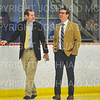 Hamilton College head coach Rob Haberbusch, Hamilton College assistant coach Bennett Hambrook<br /> <br /> 11/16/18 8:33:43 PM Men's Hockey:  Amherst College v Hamilton College at Russell Sage Rink, Hamilton College, Clinton, NY<br /> <br /> Final:  Amherst  2  Hamilton 3<br /> <br /> Photo by Josh McKee