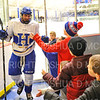 Hamilton College forward Justin Felhaber (25), Crowd, Kids<br /> <br /> 11/16/18 8:22:15 PM Men's Hockey:  Amherst College v Hamilton College at Russell Sage Rink, Hamilton College, Clinton, NY<br /> <br /> Final:  Amherst  2  Hamilton 3<br /> <br /> Photo by Josh McKee