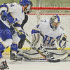 Hamilton College goaltender Anthony Tirabassi (34)<br /> <br /> 11/16/18 8:51:00 PM Men's Hockey:  Amherst College v Hamilton College at Russell Sage Rink, Hamilton College, Clinton, NY<br /> <br /> Final:  Amherst  2  Hamilton 3<br /> <br /> Photo by Josh McKee
