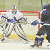 Hamilton College goaltender Anthony Tirabassi (34)<br /> <br /> 11/16/18 7:15:47 PM Men's Hockey:  Amherst College v Hamilton College at Russell Sage Rink, Hamilton College, Clinton, NY<br /> <br /> Final:  Amherst  2  Hamilton 3<br /> <br /> Photo by Josh McKee