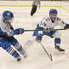 Hamilton College defender Blayne Oliver (24)<br /> <br /> 1/4/19 7:04:28 PM Men's Hockey:  Colby College v Hamilton College at Russell Sage Rink, Hamilton College, Clinton, NY<br /> <br /> Final:  Colby 2   Hamilton 4<br /> <br /> Photo by Josh McKee