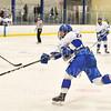Hamilton College forward Chad Varney (22)<br /> <br /> 1/4/19 8:48:31 PM Men's Hockey:  Colby College v Hamilton College at Russell Sage Rink, Hamilton College, Clinton, NY<br /> <br /> Final:  Colby 2   Hamilton 4<br /> <br /> Photo by Josh McKee