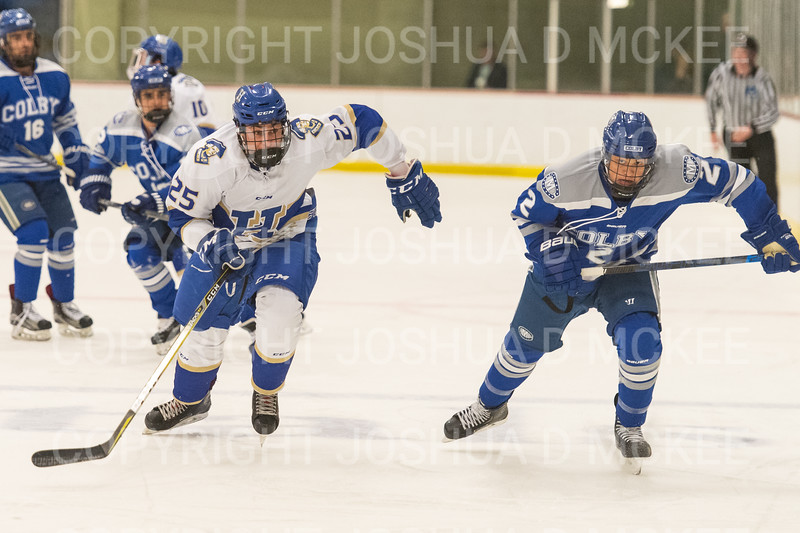Hamilton College forward Justin Felhaber (25)<br /> <br /> 1/4/19 7:14:27 PM Men's Hockey:  Colby College v Hamilton College at Russell Sage Rink, Hamilton College, Clinton, NY<br /> <br /> Final:  Colby 2   Hamilton 4<br /> <br /> Photo by Josh McKee