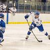 Hamilton College defender Blayne Oliver (24)<br /> <br /> 1/4/19 7:04:19 PM Men's Hockey:  Colby College v Hamilton College at Russell Sage Rink, Hamilton College, Clinton, NY<br /> <br /> Final:  Colby 2   Hamilton 4<br /> <br /> Photo by Josh McKee