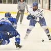 Hamilton College forward Joey Moore (20)<br /> <br /> 1/4/19 9:04:41 PM Men's Hockey:  Colby College v Hamilton College at Russell Sage Rink, Hamilton College, Clinton, NY<br /> <br /> Final:  Colby 2   Hamilton 4<br /> <br /> Photo by Josh McKee