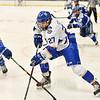 Hamilton College forward Jon Stickel (27)<br /> <br /> 1/4/19 7:58:27 PM Men's Hockey:  Colby College v Hamilton College at Russell Sage Rink, Hamilton College, Clinton, NY<br /> <br /> Final:  Colby 2   Hamilton 4<br /> <br /> Photo by Josh McKee