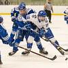 Hamilton College forward Jordi Jefferson (18)<br /> <br /> 1/4/19 7:12:22 PM Men's Hockey:  Colby College v Hamilton College at Russell Sage Rink, Hamilton College, Clinton, NY<br /> <br /> Final:  Colby 2   Hamilton 4<br /> <br /> Photo by Josh McKee