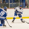 Hamilton College forward Joey Moore (20), GOAL<br /> <br /> 1/4/19 7:23:49 PM Men's Hockey:  Colby College v Hamilton College at Russell Sage Rink, Hamilton College, Clinton, NY<br /> <br /> Final:  Colby 2   Hamilton 4<br /> <br /> Photo by Josh McKee