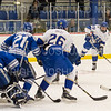 Hamilton College forward Joey Moore (20), GOAL<br /> <br /> 1/4/19 7:24:27 PM Men's Hockey:  Colby College v Hamilton College at Russell Sage Rink, Hamilton College, Clinton, NY<br /> <br /> Final:  Colby 2   Hamilton 4<br /> <br /> Photo by Josh McKee