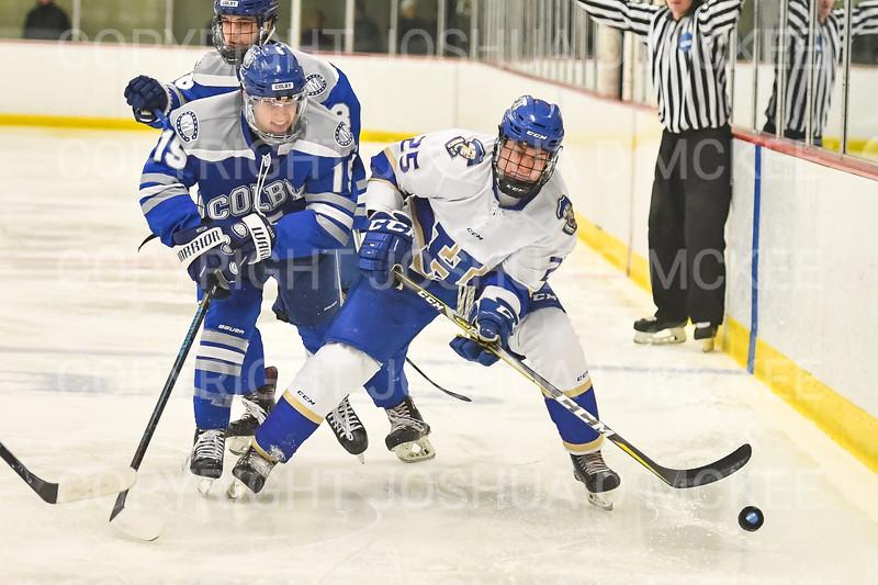 Hamilton College forward Justin Felhaber (25)<br /> <br /> 1/4/19 8:45:47 PM Men's Hockey:  Colby College v Hamilton College at Russell Sage Rink, Hamilton College, Clinton, NY<br /> <br /> Final:  Colby 2   Hamilton 4<br /> <br /> Photo by Josh McKee