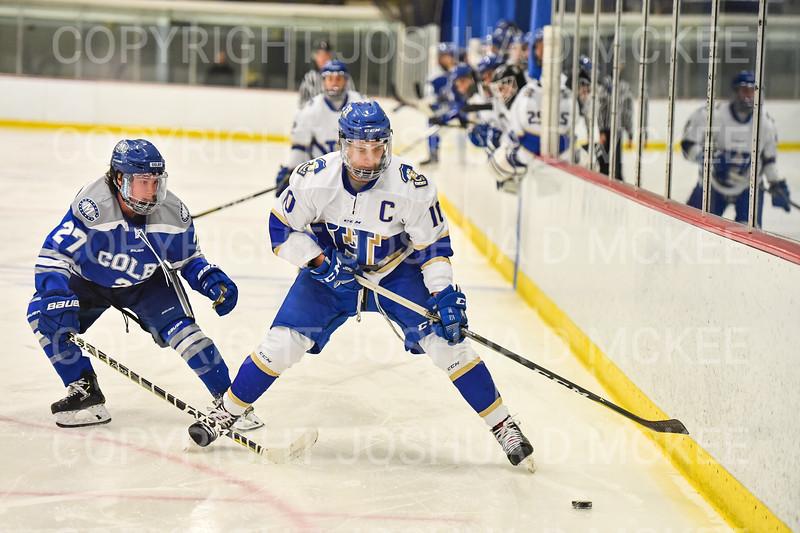 Hamilton College forward Rory Gagnon (10)<br /> <br /> 1/4/19 7:54:04 PM Men's Hockey:  Colby College v Hamilton College at Russell Sage Rink, Hamilton College, Clinton, NY<br /> <br /> Final:  Colby 2   Hamilton 4<br /> <br /> Photo by Josh McKee