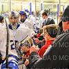 Hamilton College goaltender Anthony Tirabassi (34), Crowd<br /> <br /> 1/25/19 8:24:20 PM Men's Hockey:  #7 Trinity College v Hamilton College at Russell Sage Rink, Hamilton College, Clinton, NY<br /> <br /> Final:  Trinity 3   Hamilton 3<br /> <br /> Photo by Josh McKee