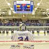 Hamilton College goaltender Anthony Tirabassi (34)<br /> <br /> 1/25/19 6:58:49 PM Men's Hockey:  #7 Trinity College v Hamilton College at Russell Sage Rink, Hamilton College, Clinton, NY<br /> <br /> Final:  Trinity 3   Hamilton 3<br /> <br /> Photo by Josh McKee