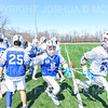 Hamilton College long stick midfielder Hauken Washington (48), Team<br /> <br /> 3/9/19 12:18:54 PM Men's Lacrosse: Colby College v Hamilton College at Withiam Field, Hamilton College, Clinton, NY<br /> <br /> Final: Colby 9   Hamilton 17<br /> <br /> Photo by Josh McKee