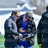 Hamilton College head coach Scott Barnard, Hamilton College long stick midfielder Avery Klinger (47)<br /> <br /> 3/9/19 12:22:20 PM Men's Lacrosse: Colby College v Hamilton College at Withiam Field, Hamilton College, Clinton, NY<br /> <br /> Final: Colby 9   Hamilton 17<br /> <br /> Photo by Josh McKee