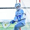 Hamilton College goalkeeper Seamus Fagan (27)<br /> <br /> 3/9/19 12:24:48 PM Men's Lacrosse: Colby College v Hamilton College at Withiam Field, Hamilton College, Clinton, NY<br /> <br /> Final: Colby 9   Hamilton 17<br /> <br /> Photo by Josh McKee