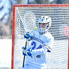Hamilton College goalkeeper Max Scheidl (34)<br /> <br /> 3/9/19 12:25:48 PM Men's Lacrosse: Colby College v Hamilton College at Withiam Field, Hamilton College, Clinton, NY<br /> <br /> Final: Colby 9   Hamilton 17<br /> <br /> Photo by Josh McKee