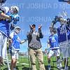 Hamilton College head coach Scott Barnard, Team<br /> <br /> 4/13/19 12:44:04 PM Men's Lacrosse: Connecticut College v Hamilton College at Steuben Field, Hamilton College, Clinton, NY<br /> <br /> Final:  Conn 12   Hamilton 9<br /> <br /> Photo by Josh McKee