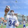 Hamilton College goalkeeper Max Scheidl (34)<br /> <br /> 4/13/19 12:39:31 PM Men's Lacrosse: Connecticut College v Hamilton College at Steuben Field, Hamilton College, Clinton, NY<br /> <br /> Final:  Conn 12   Hamilton 9<br /> <br /> Photo by Josh McKee