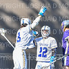 Hamilton College attacker Chad Morse (3), Hamilton College attacker Ben Gardner (22), Celebration<br /> <br /> 3/20/19 4:07:51 PM Men's Lacrosse: Nazareth College v Hamilton College, at Steuben Field, Hamilton College, Clinton, NY<br /> <br /> Final: Nazareth 12   Hamilton 17<br /> <br /> Photo by Josh McKee