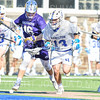 Hamilton College midfielder James Sanderson (13)<br /> <br /> 3/20/19 4:08:42 PM Men's Lacrosse: Nazareth College v Hamilton College, at Steuben Field, Hamilton College, Clinton, NY<br /> <br /> Final: Nazareth 12   Hamilton 17<br /> <br /> Photo by Josh McKee