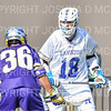 Hamilton College attacker Clay McCollum (18)<br /> <br /> 3/20/19 4:12:15 PM Men's Lacrosse: Nazareth College v Hamilton College, at Steuben Field, Hamilton College, Clinton, NY<br /> <br /> Final: Nazareth 12   Hamilton 17<br /> <br /> Photo by Josh McKee