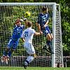 Hamilton College goalkeeper Thomas Benson (0)<br /> <br /> 9/22/18 2:19:16 PM Men's Soccer:  #21 Connecticut College vs Hamilton College, at Love Field, Hamilton College, Clinton NY<br /> <br /> Final:  Conn 1    Hamilton 0<br /> <br /> Photo by Josh McKee