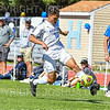 Hamilton College forward Jefri Schmidt (10)<br /> <br /> 9/23/18 1:48:55 PM Men's Soccer:  Middlebury College vs Hamilton College, at Love Field, Hamilton College, Clinton NY<br /> <br /> Final:  Middlebury 2   Hamilton 1 2OT<br /> <br /> Photo by Josh McKee