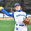 Hamilton College INF Victoria Dunn (10)<br /> <br /> 3/14/19 5:05:15 PM Houghton College v Hamilton College, at Loop Road Softball/Baseball Complex, Hamilton College, Clinton, NY<br /> <br /> Final:  Houghton 2  Hamilton 10 (6 innings)<br /> <br /> Photo by Josh McKee