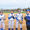 Team, Hamilton College head coach Stephanie Hartquist<br /> <br /> 3/14/19 5:03:15 PM Houghton College v Hamilton College, at Loop Road Softball/Baseball Complex, Hamilton College, Clinton, NY<br /> <br /> Final:  Houghton 2  Hamilton 10 (6 innings)<br /> <br /> Photo by Josh McKee