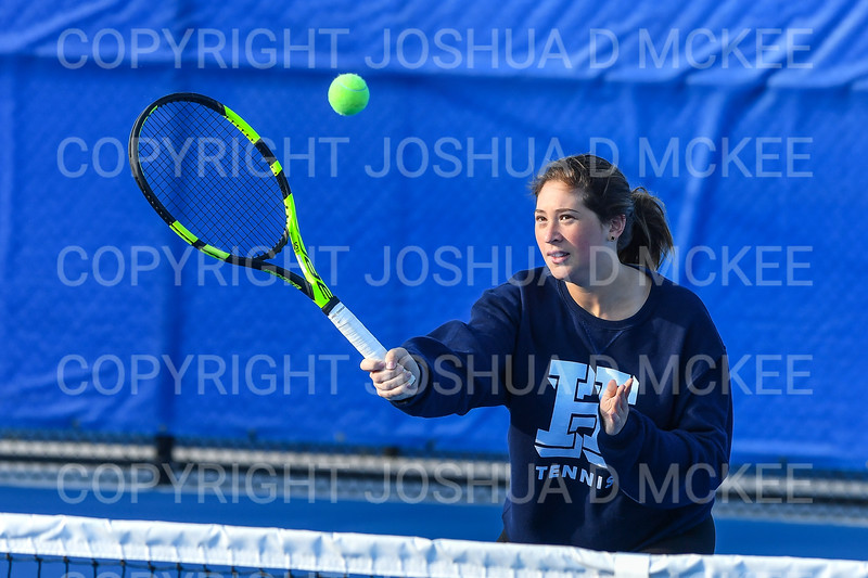 9/21/18 5:17:22 PM Tennis: Practice held at the Tietje Family Tennis Center, Hamilton College, Clinton, NY<br /> <br /> Photo by Josh McKee