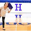 Hamilton College head coach Kristin Baker<br /> <br /> 10/5/18 7:10:39 PM Women's Volleyball:  Bates College v Hamilton College in the Margaret Bundy Scott Field House at Hamilton College, Clinton, NY<br /> <br /> Final: Bates 3  Hamilton 0<br /> <br /> Photo by Josh McKee