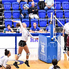 Hamilton College outside hitter Jane Fanning (15)<br /> <br /> 10/5/18 7:17:47 PM Women's Volleyball:  Bates College v Hamilton College in the Margaret Bundy Scott Field House at Hamilton College, Clinton, NY<br /> <br /> Final: Bates 3  Hamilton 0<br /> <br /> Photo by Josh McKee