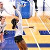 Hamilton College middle blocker Kendall Boxe (4)<br /> <br /> 10/5/18 7:10:26 PM Women's Volleyball:  Bates College v Hamilton College in the Margaret Bundy Scott Field House at Hamilton College, Clinton, NY<br /> <br /> Final: Bates 3  Hamilton 0<br /> <br /> Photo by Josh McKee