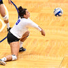 Hamilton College L/DS Kayla Self (9)<br /> <br /> 10/5/18 7:10:24 PM Women's Volleyball:  Bates College v Hamilton College in the Margaret Bundy Scott Field House at Hamilton College, Clinton, NY<br /> <br /> Final: Bates 3  Hamilton 0<br /> <br /> Photo by Josh McKee