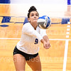 Hamilton College L/DS Kayla Self (9)<br /> <br /> 10/5/18 7:11:05 PM Women's Volleyball:  Bates College v Hamilton College in the Margaret Bundy Scott Field House at Hamilton College, Clinton, NY<br /> <br /> Final: Bates 3  Hamilton 0<br /> <br /> Photo by Josh McKee