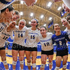 Team<br /> <br /> 9/26/18 7:02:51 PM Women's Volleyball:  SUNY Geneseo vs Hamilton College, at Margaret Bundy Scott Field House, Hamilton College, Clinton, NY<br /> <br /> Final: SUNY Geneseo 0  Hamilton 3<br /> <br /> Photo by Josh McKee